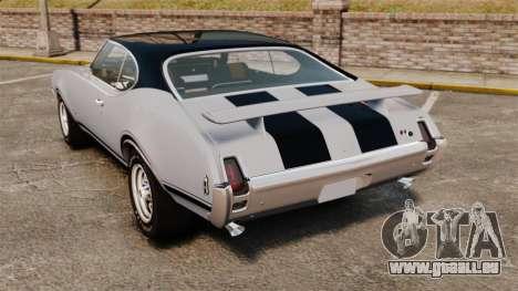 Oldsmobile Cutlass Hurst 442 1969 v2 pour GTA 4 Vue arrière de la gauche
