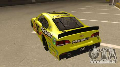 Chevrolet SS NASCAR No. 27 Menards pour GTA San Andreas vue arrière
