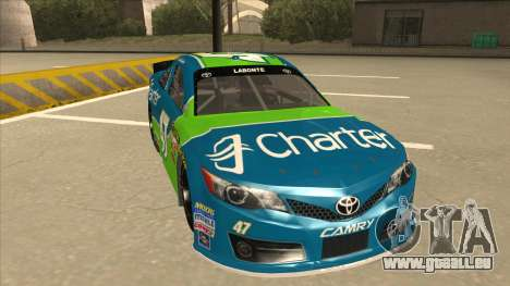 Toyota Camry NASCAR No. 47 Charter pour GTA San Andreas laissé vue