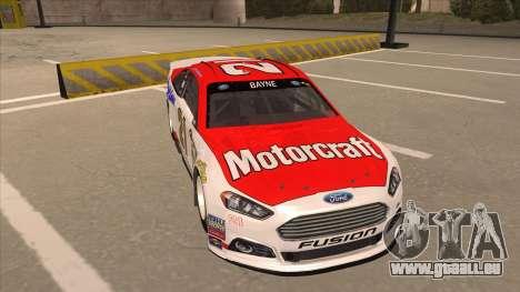 Ford Fusion NASCAR No. 21 Motorcraft Quick Lane pour GTA San Andreas laissé vue