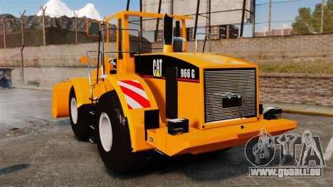Radlader Caterpillar 966 g VR für GTA 4 hinten links Ansicht