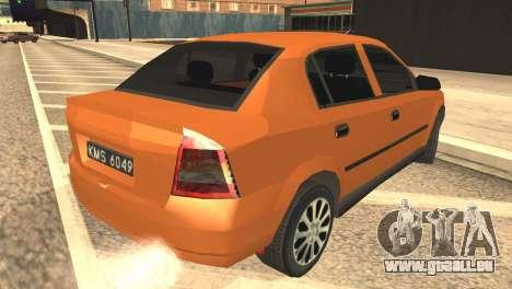 Opel Astra 1.6 TDi SEDAN pour GTA San Andreas laissé vue
