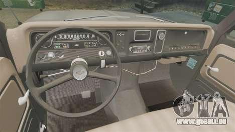 Chevrolet C-10 Stepside v1 pour GTA 4 est une vue de l'intérieur