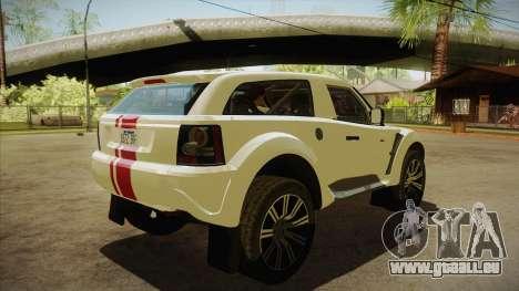 Bowler EXR S 2012 HQLM pour GTA San Andreas vue de droite
