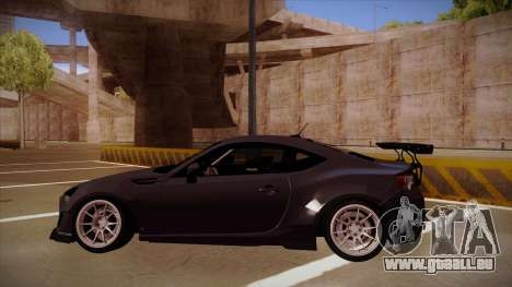 Subaru BRZ Rocket Bunny pour GTA San Andreas sur la vue arrière gauche