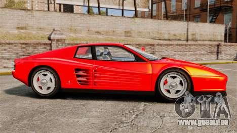Ferrari Testarossa 1986 für GTA 4 linke Ansicht