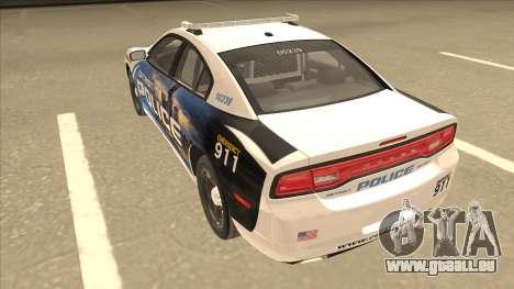 Dodge Charger Detroit Police 2013 pour GTA San Andreas vue arrière
