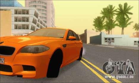 BMW M5 Vossen pour GTA San Andreas vue de côté