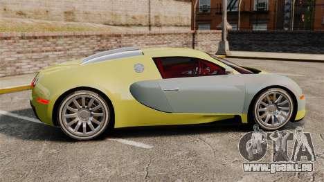 Bugatti Veyron Gold Centenaire 2009 für GTA 4 linke Ansicht