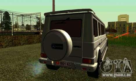 Mercedes-Benz G500 Limo pour GTA San Andreas sur la vue arrière gauche
