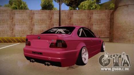 BMW M3 E46 Stance für GTA San Andreas rechten Ansicht