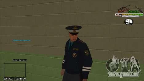 Peaux SAPD Pak pour GTA San Andreas sixième écran