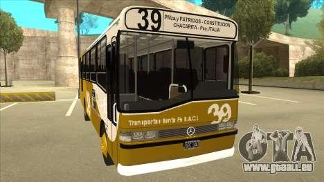 Mercedes-Benz OHL-1320 Linea 39 pour GTA San Andreas laissé vue