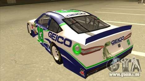 Ford Fusion NASCAR No. 13 GEICO für GTA San Andreas Rückansicht