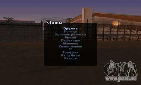 La version anglaise Menu de triche pour GTA San Andreas