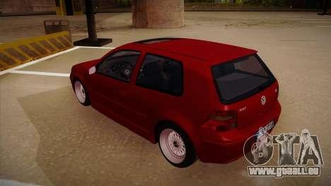 Volkswagen Golf Mk4 Euro pour GTA San Andreas vue arrière
