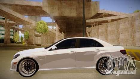 Mercedes-Benz E63 6.3 AMG Tedy pour GTA San Andreas sur la vue arrière gauche