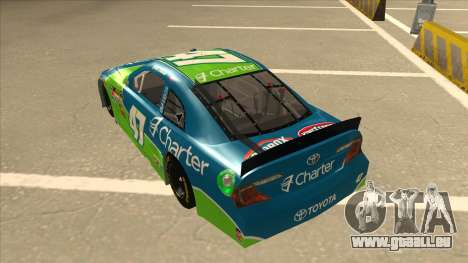 Toyota Camry NASCAR No. 47 Charter pour GTA San Andreas vue arrière