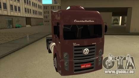 Volkswagen Constellation 25.370 Tractor pour GTA San Andreas laissé vue
