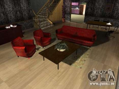 Innen 2-stöckige Neubau CJ für GTA San Andreas fünften Screenshot