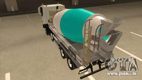 Hi-Land Betonmischer LKW Iveco für GTA San Andreas rechten Ansicht