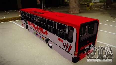 Busscar Urbanus SS Volvo B10 M Busmania für GTA San Andreas Rückansicht