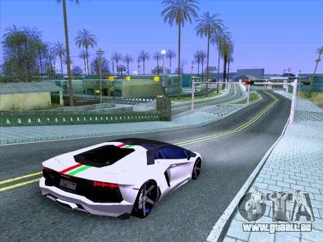 Lamborghini Aventador LP700-4 Vossen 2012 V2.0 F pour GTA San Andreas vue de côté