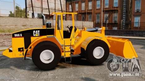 Radlader Caterpillar 966 g VR für GTA 4 linke Ansicht