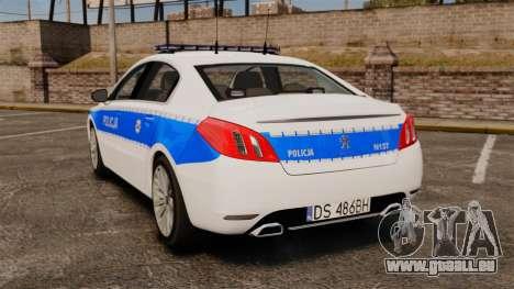 Peugeot 508 Polish Police [ELS] für GTA 4 hinten links Ansicht