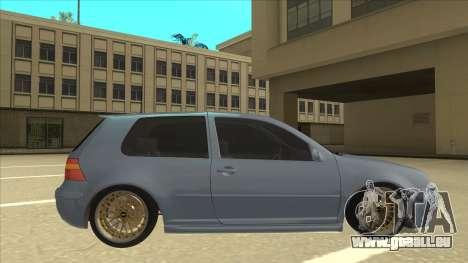 Volkswagen Golf MK4 Gti Eurolook pour GTA San Andreas sur la vue arrière gauche