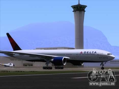 Boeing 777-200ER Delta Air Lines für GTA San Andreas Räder