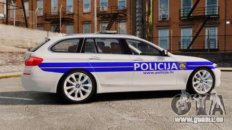 BMW M5 Touring Croatian Police [ELS] pour GTA 4 est une gauche
