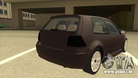 VW Golf 4 Tuned pour GTA San Andreas vue de droite