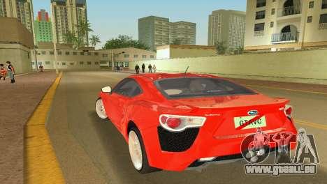Subaru BRZ Type 2 pour une vue GTA Vice City de la gauche