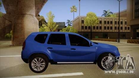 Dacia Duster SUV 4x4 pour GTA San Andreas sur la vue arrière gauche
