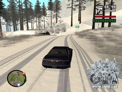 Nouveau compteur de vitesse pour GTA San Andreas deuxième écran