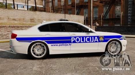 BMW M5 Croatian Police [ELS] für GTA 4 linke Ansicht