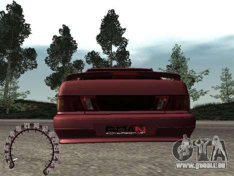 BPAN VAZ 2115 pour GTA San Andreas vue arrière