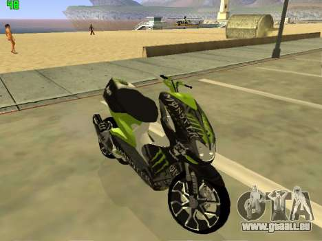 Yamaha Aerox für GTA San Andreas