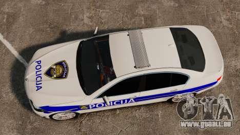 BMW M5 Croatian Police [ELS] für GTA 4 rechte Ansicht