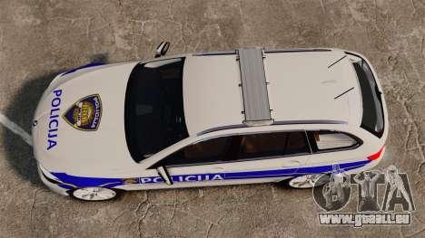 BMW M5 Touring Croatian Police [ELS] für GTA 4 rechte Ansicht