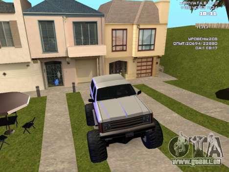 Rancher Monster pour GTA San Andreas vue intérieure