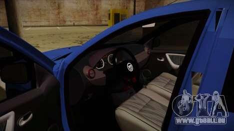 Dacia Duster SUV 4x4 pour GTA San Andreas vue intérieure