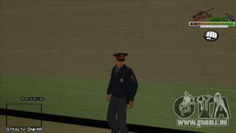 Peaux SAPD Pak pour GTA San Andreas quatrième écran
