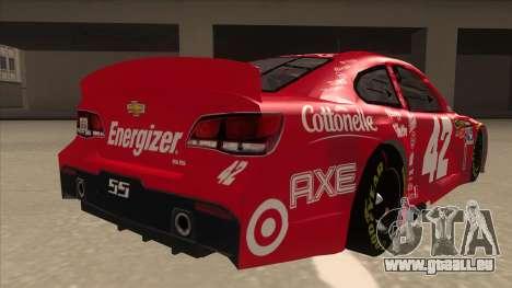Chevrolet SS NASCAR No. 42 Clorox für GTA San Andreas rechten Ansicht