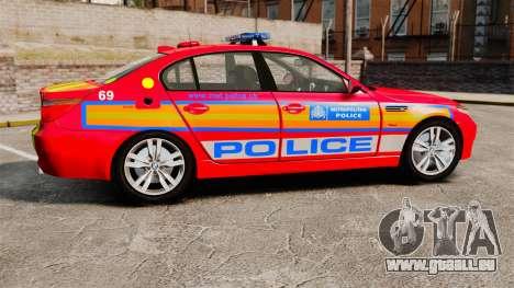 BMW M5 E60 Metropolitan Police 2010 ARV [ELS] pour GTA 4 est une gauche