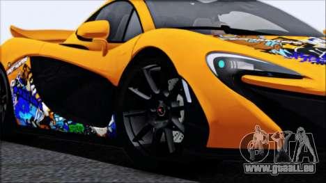 McLaren P1 2014 für GTA San Andreas Räder