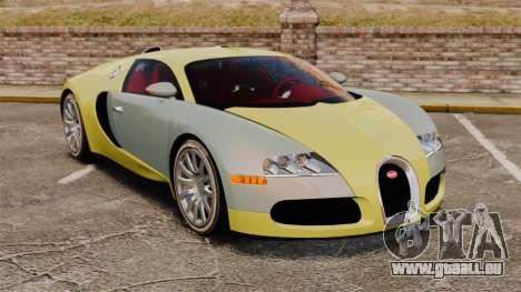 Bugatti Veyron Gold Centenaire 2009 pour GTA 4