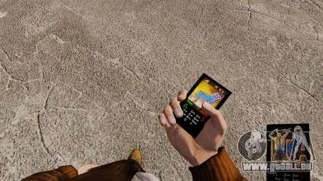 Thèmes pour les barres de sucrerie de téléphone pour GTA 4 troisième écran