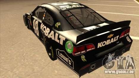 Chevrolet SS NASCAR No. 48 Kobalt Tools pour GTA San Andreas vue arrière